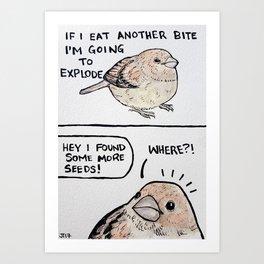 Bird no. 52: Me; also me Art Print