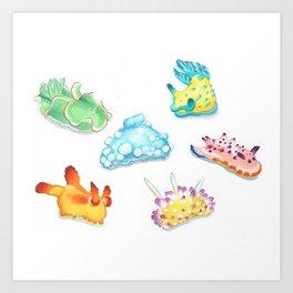 Sea Slugs Art Print