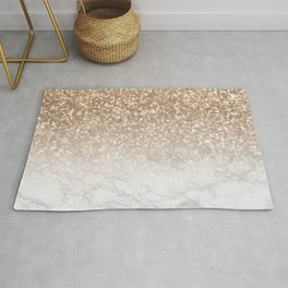 Sparkle - Gold Glitter and Marble Rug