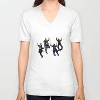 jewish V-neck T-shirts featuring jewish by Mimi Eskenazi