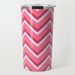Pink Zig Zag Pattern Travel Mug