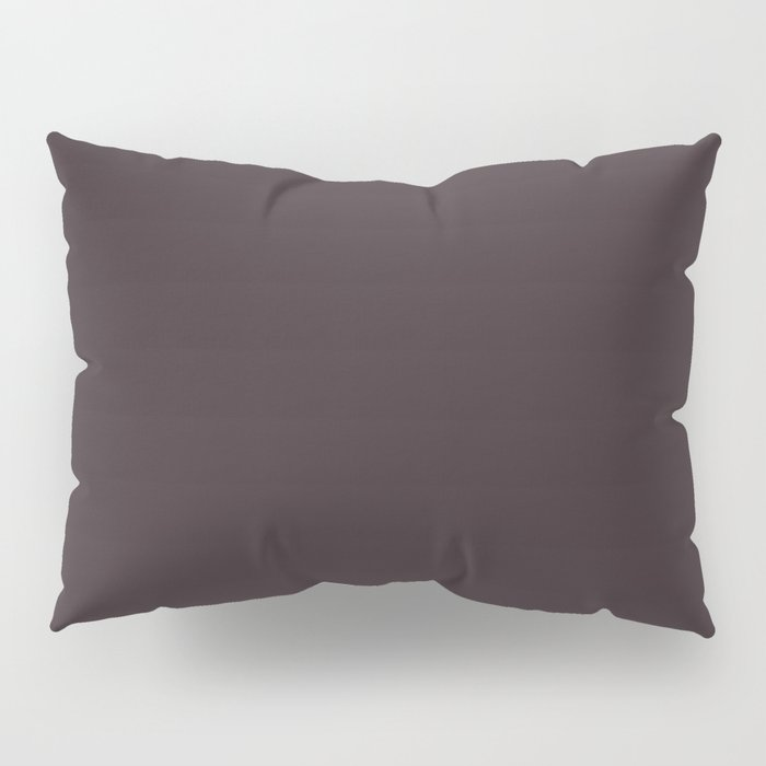Solid Dark Charcoal Grey Color Pillow Sham