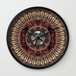 Mandala: Van Eyck (Orange) Wall Clock