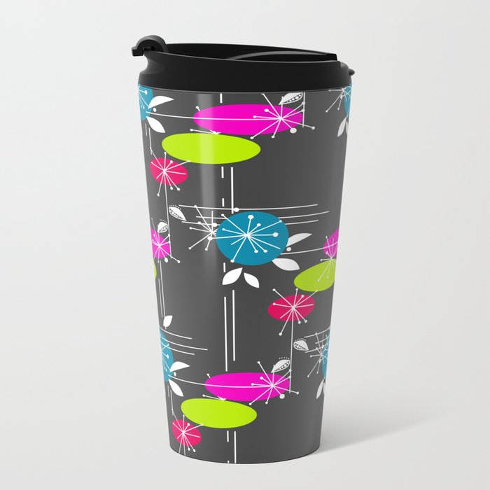 Retro . Black . Metal Travel Mug