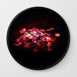"""Firepit"" (2014) Wall Clock"