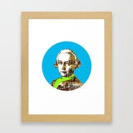 Mozart Kugel Blue Framed Art Print