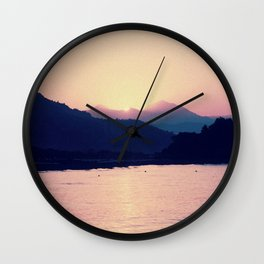 Romantic Pastel Pink Sunset #1 #art #society6 Wall Clock