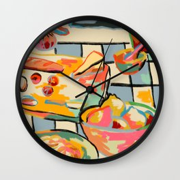 BREAD AND PASTA LOVE  Wall Clock