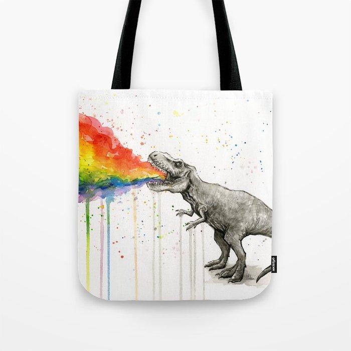 T-Rex Dinosaur Vomits Rainbow Umhängetasche