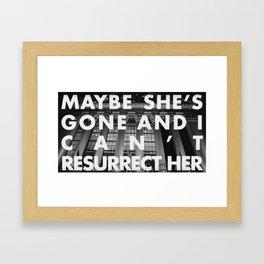 SHE'S GONE Framed Art Print