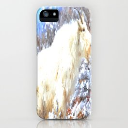Mountain Goats In the Alpine Wyoming Mountain - Rocky Mountain Goat iPhone Case