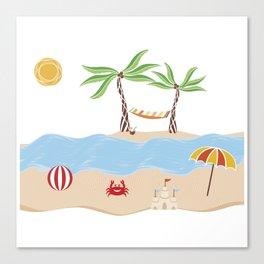 Summer Beach Fun Canvas Print