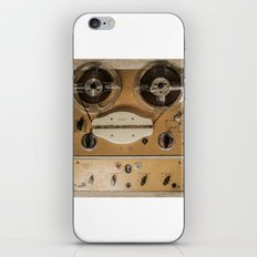 Vintage tape sound recorder reel to reel iPhone Skin