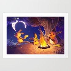 Chu Campfire Art Print