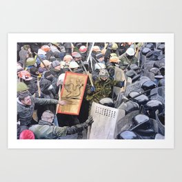 Today tragedy is collective Art Print