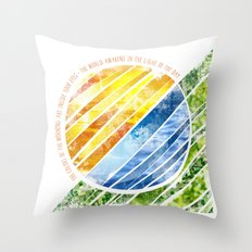The World Awakens Throw Pillow