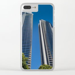 Surfers Paradise Buildings Clear iPhone Case