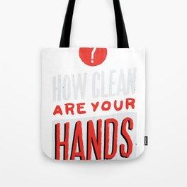 VIRUS CLEAN HANDS QUOTE ART DESIGN Tote Bag