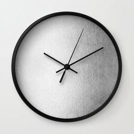Moonlight Silver Wall Clock