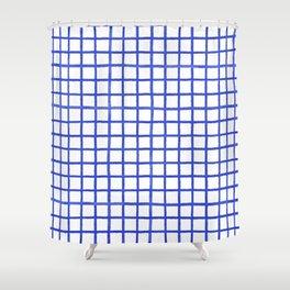 Ink Checks Shower Curtain