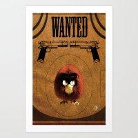 Red Angry Bird Art Print