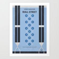No683 My Wall street minimal movie poster Art Print