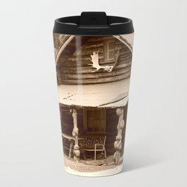 Old Log Cabin Travel Mug