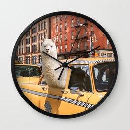 Alpaca in New York Wall Clock
