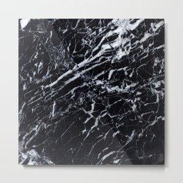 Marble Black Texture Metal Print