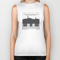 casablanca Biker Tanks featuring No192 My Casablanca minimal movie poster by Chungkong