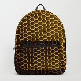 Brown Honeycomb Backpack