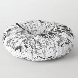 Cafe scene #1 Floor Pillow