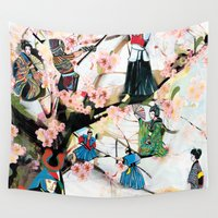 japanese Wall Tapestries featuring Japanese 2  by Felicia Atanasiu