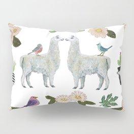 Llama and Luna Moth Pillow Sham