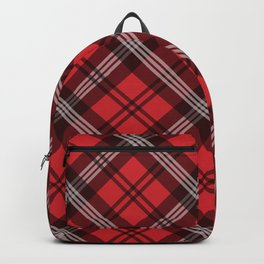 Scottish Plaid-Red Backpack