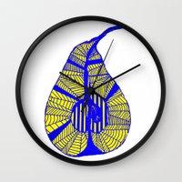 pear Wall Clocks featuring Pear by Bonnie J. Breedlove
