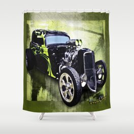1934 Ford Three Window Coupe Hot Rod Shower Curtain