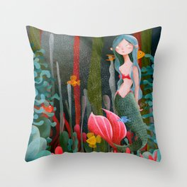 BTATO_Mermaid Throw Pillow