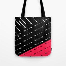 Red black , white pattern Arrow . Tote Bag
