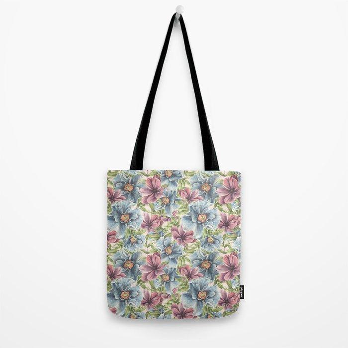 Hibiscus Vintage Pattern Tote Bag