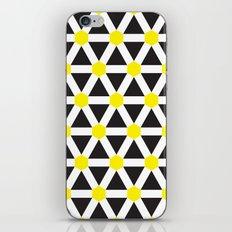 Yellow, white stripes geometric pattern iPhone & iPod Skin