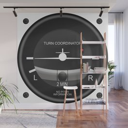 Turn Coordinator Flight Instruments Wall Mural