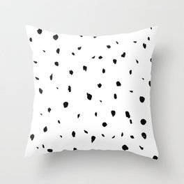 messy spots  Throw Pillow