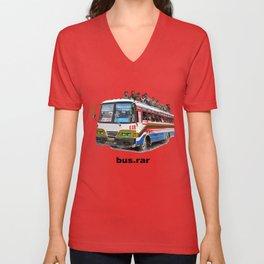 bus dot rar Unisex V-Neck
