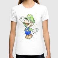 luigi T-shirts featuring Luigi Watercolor Art by Olechka