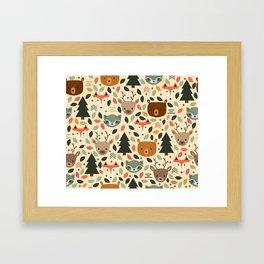 Woodland Creatures Framed Art Print