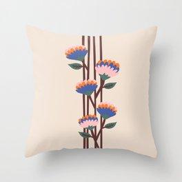 Henri Flowers Throw Pillow