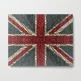Union Jack - Vintage Tribal Metal Print