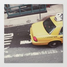 one way taxi:: nyc Canvas Print