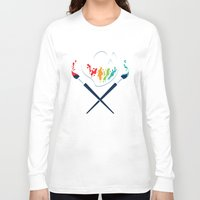 pirates Long Sleeve T-shirts featuring Art Pirates by Steven Toang